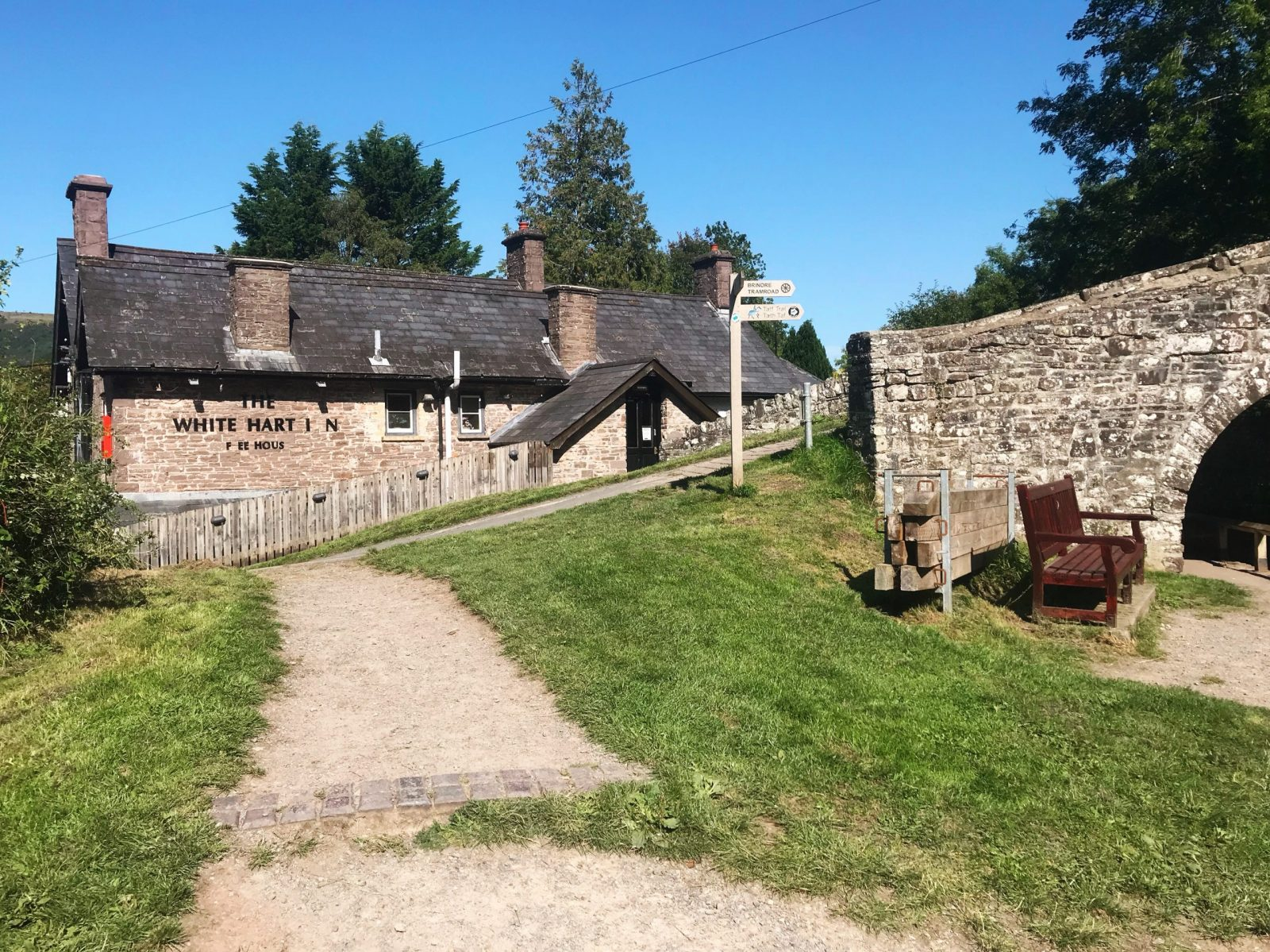 Talybont-on-Usk and The White Hart Inn, Monmouthshire and Brecon Canal