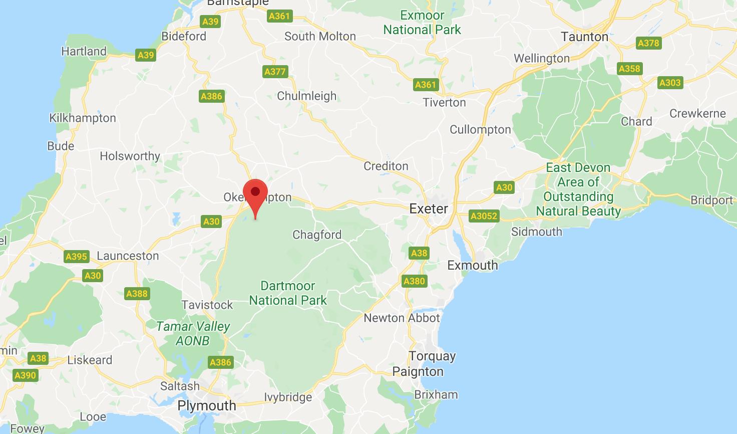 Walks in Dartmoor Devon Map