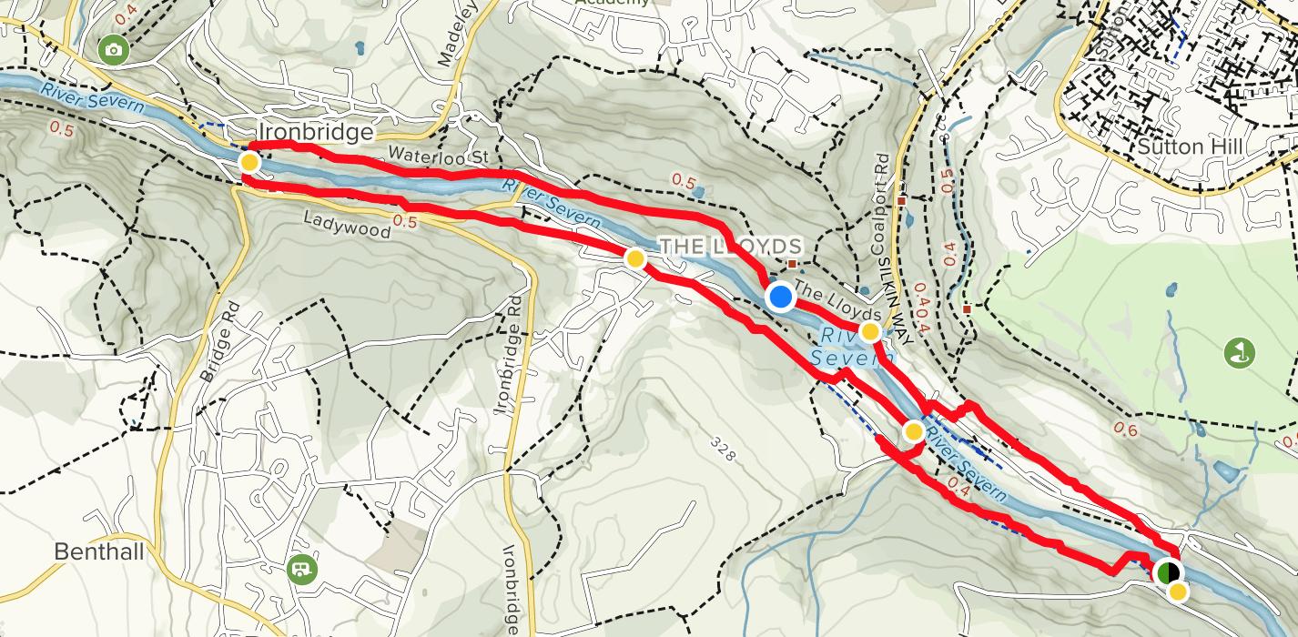 visiting Ironbridge walk map
