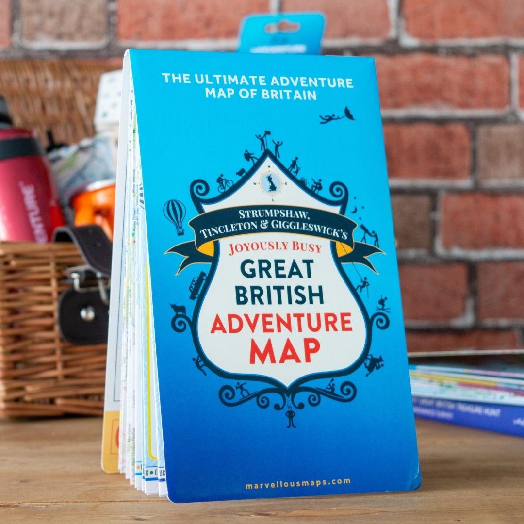 Ordnance Survey Gifts ST&G's Great British Adventure Map